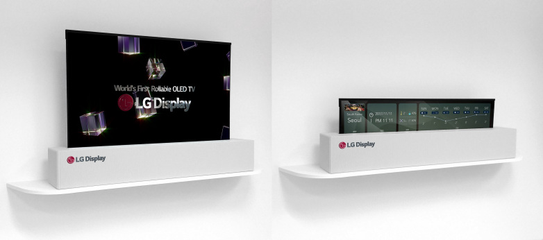 LG announce rollable futuristic OLED TV