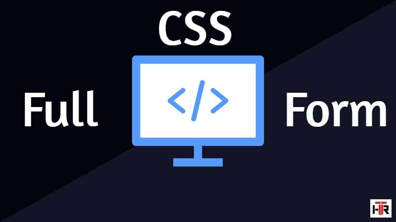 css full form